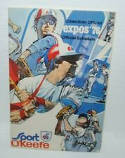 1976 Montreal Expos pocket schedule, O'Keefe, scarce, excellent