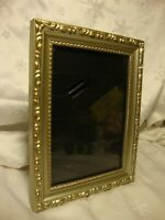 """Silver & Gold Tone Trim 5""""x 7"""" Photo Picture Frame Free-Standing or Wall      31"""