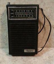Vintage Sears AM/FM Pocket Radio  UNTESTED - NO BOX -