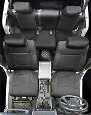 2013-2017 Jeep Wrangler 2 Door Neoprene Front & Rear Seat Covers Set Black