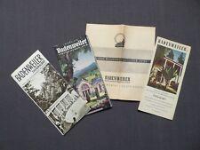 4 Reiseprospekte Thermalbad Badenweiler im Schwarzwald, von 1939 und 1954