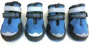 Lymenden Breathable Mesh Dog Shoes Paw Protectors with Reflective Non Slip 3in.