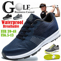 FLYLAND Men's Golf Shoes Breathable Waterproof Business Casual Sport Golf Shoes