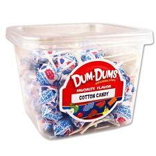 Dum Dum Pops Favorite Cotton Candy Flavor TWO Big 1 Lb Tubs! Lollipop Dum Dums