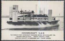 Postcard BRITISH UNITED AIRWAYS HOVERCRAFT V.A.-3 view 1962