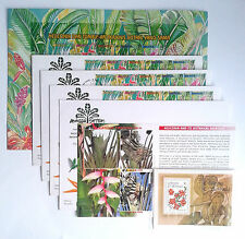 HELICONIA & BOTANICAL RELATIVES FLORA 1999-17 YEARS OLD 3 x FDC & ANTIGUA'S MNH