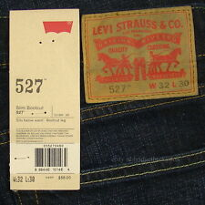 Levis 527 Jeans Mens New Slim Boot Cut Size 32 x 30 BLACK INDIGO Levi's #151