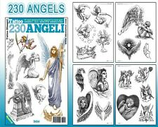 230 ANGELS Tattoo Flash Design Book 66-Pages Cursive Writing Art Supply