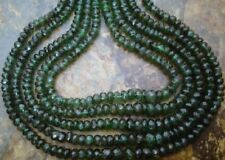 Emerald 3.5-4mm FACETED Rondell (15 Precious Gemstone Beads) 4.2Ct - Great value
