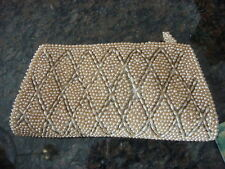 """Vintage BEADED CLUTCH PURSE 8"""", Made in Japan"""