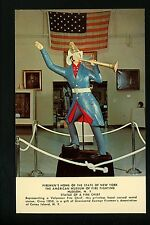 Firemen's Home postcard Hudson, New York NY Fire Chief Statue in Museum Vintage