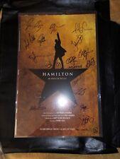Full Original Broadway Cast Signed Hamilton Poster - Lin Manuel Miranda