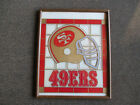 SAN FRANCISCO 49ERS VINTAGE PICTURE - GLASS - VERY HEAVY - 21