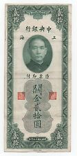 CHINA SHANGAI 20 CUSTOMS GOLD UNITS 1930 PICK 328 LOOK SCANS