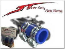 "(BLUE) YAMAHA Blaster HIGH TEMP EXHAUST CLAMP YFS 200 1""ID Dirt bike blue ATV"