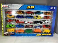 Maisto 25 Stück Set Spielzeugautos Fahrzeuge Autos Volkswagen Porsche Jeep VW