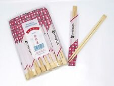 40 Pairs Chinese Round Traditional Chopsticks Wooden Bamboo Wood Japanese Thai