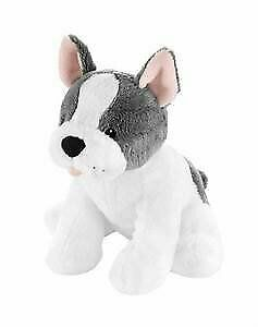 NWT Carters Plush Grey And White French Bulldog Puppy Dog Stuffed Baby Toy 67366