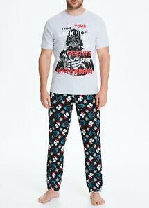 Mens Star Wars Christmas Pyjama Set Pyjamas Nightwear Pyjs Small-2XL