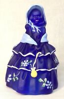 Boyd Art Glass Hand Painted Cobalt Satin Colonial Doll LIMITED EDITION