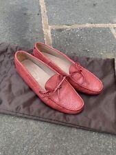 Tods Brillo Controlador Zapato Mocasines Mocasín Verano 38 Rojo