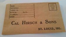 Vintage Envelope Cal Hirsch & Sons St. Louis Mo. Advertising