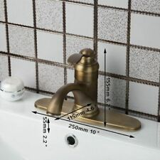 Antique Brass Ceramic Faucets With Cover Plate Deck Mounted For Home Improvement