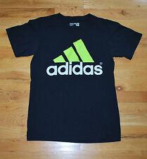 adidas black fluorescent short sleeve t-shirt  (Youth S) 100% cotton