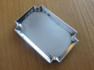 SOLID SILVER SMALL TRAY - B`ham 1926 - Weighs 122 grams - FINE CONDITION
