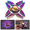 Rainbow EDC Fidget Hand Spinner Alloy Finger Focus ADHD Autism Kids Toy Gyr L&6