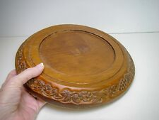 "Carved Wood Dome Base for 6"" to 7 1/2"" Diameter Dome"