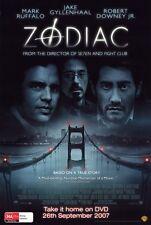 ZODIAC Movie POSTER 27x40 D Jake Gyllenhaal Robert Downey Jr. Mark Ruffalo