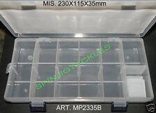 NEW BOX PORTA ARTIFICIALI 230X115X35mm ART. MP2335B FIREFOX