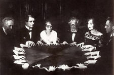 Framed Print – Victorian Séance (Grainy Old Vintage Photo Paranormal Picture)