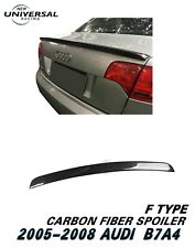 Carbon Fiber Rear Trunk Spoiler Wing For 2005-2008 Audi A4 B7 Sedan 4dr Type F