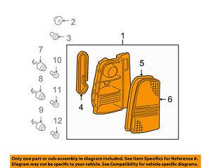 Scion TOYOTA OEM xB Taillight Tail Light-Rear-Lens & Housing Left 8156152350