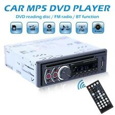 1Din Bluetooth Car Stereo MP3 Player CD VCD DVD AUX USB FM Radio Dash Head Unit