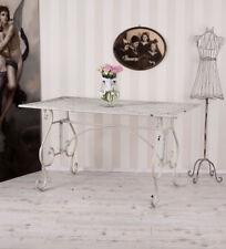 Gartentisch Vintage WEISS Metalltisch Esstisch Gross Tisch Shabby
