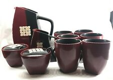Pfaltzgraff Eastside 10 pc Mugs, Pitcher and Canisters for use/ decor