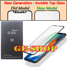 New Generation iPhone X Curved Full Coverage Tempered Glass Screen Protector UK