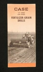 "1949 J. I. CASE ""LF Series Low-Wheel Fertilizer-Grain Drills"" BROCHURE VERY GOOD"
