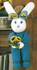 Baby Bunny Sunflower Door Hanging crochet PATTERN INSTRUCTIONS