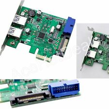 PCI-E USB 3.0 2 Port 20 pin Connector 15-pin SATA Power w/ Low Profile Bracket
