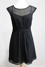 NWT J CREW Black SLEEVELESS CHIFFON DRESS IN ZIGZAG Sz 4P C7843 Illusion