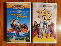 (Lot2) Chitty Chitty Bang Bang Wizard of Oz Classic VHS RARE HTF OOP Anniversary