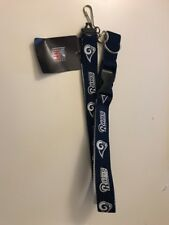 Los Angeles L.A. Rams Two Tone Lanyard Keychain, NFL, NEW