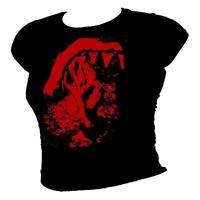 Shark Bite - Scuba Diving OK symbol - humour ladies diving T-shirt