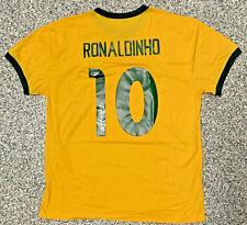 Brazil Ronaldinho Signed Soccer Jersey - Autographed BAS Beckett COA
