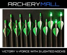 12 Victory Vforce 350 V6 arrows with 3 lighted nocks 55-75lb