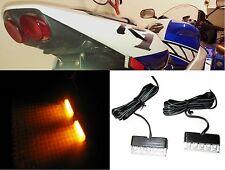 2 Black Motorcycle Turn Signals LED Blinker Front Rear Peg Lite Slim Flush KTM a